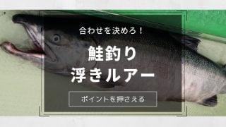 鮭浮きルアー合わせ