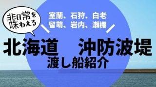 北海道沖防波堤渡し船