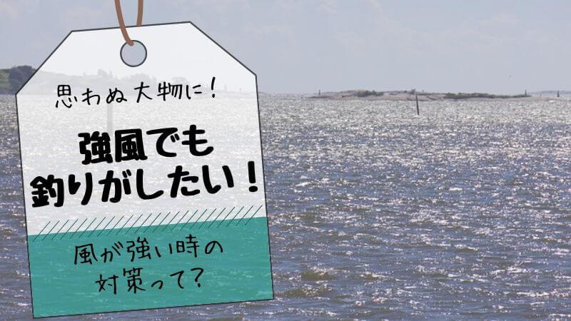 強風釣り対策